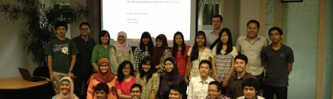 Presentasi Indonesia Mengglobal di Sunday Sharing Indonesia Future Leaders