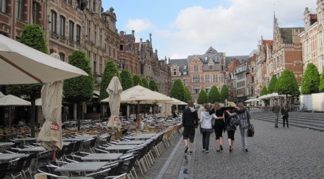 City of Leuven's Oude Markt, a popular city square (photo credit: flickr)