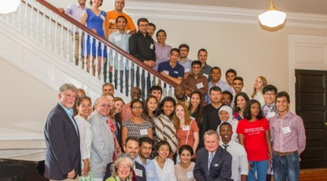 Welcome Reception for Fulbright Pre-academic Training at The University of Arkansas, July 2014. Photo by: Kirk Lanier.