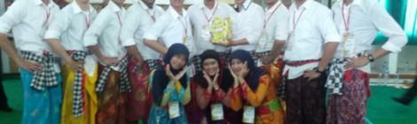 Kelompok kami meraih juara apresiasi seni yang ditampilkan pada saat  penutupan PK. Kami menampilkan Tari Kecak dan Lagu Janger (Don Dap Dape) yang berasal dari Bali.
