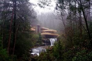 Sisi Fallingwater House yang paling dikenal