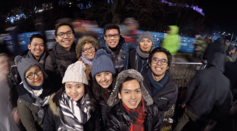 New Year Celebration with friends and fellow LPDP Awardee in Edinburgh (Photo courtesy of Willy Purba)