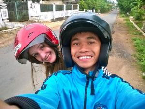 Saya dan Paulina Wierzbicka di Margodadi, Lampung Selatan