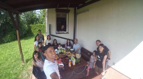 Berkumpul dengan komunitas Indonesia di Kraków