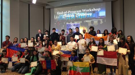 Bersama penerima Beasiswa Global UGRAD 2015-16 dari Region Asia Selatan dan Asia Pasifik ketika menghadiri End-of-Program Workshop di Washington D.C.