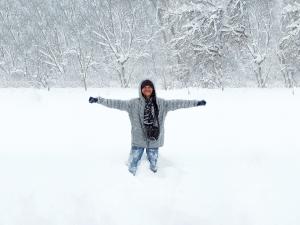 Saya dan salju pertama saya di Chambersburg, Pennsylvania
