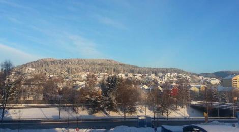Pemandangan dari jendela kamar sewaktu pertukaran pelajar di Oslo, Norwegia