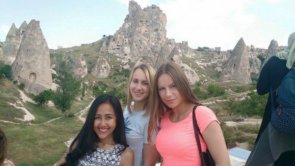 With my two friends from Lithuania (one of them was my roommate in the dorm) during the Cappadocia national tour
