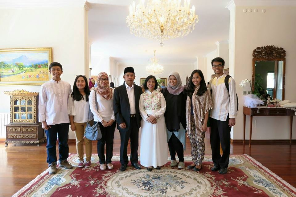 With Ambassador Mr. Wardhana and Madame Ambassador Mrs. Wardhana in Wisma Indonesia Ankara