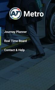 Tampilan Aplikasi AT Metro