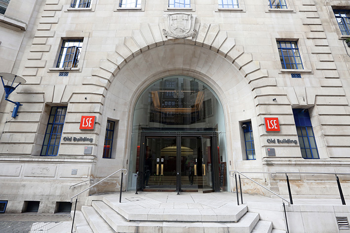 The main entrance to Old Building in Houghton Street - Photo is from LSE website