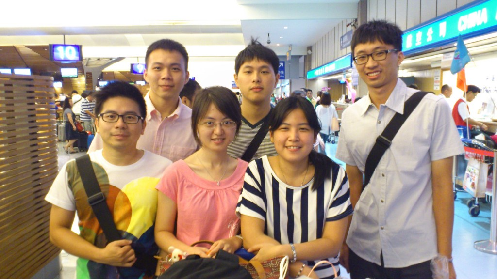 Farewell with Taiwanese friends at Taoyuan Airport