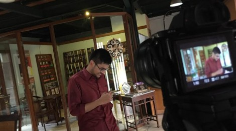 Dylan Amirio: Shooting a video feature on Indonesian literature foundation