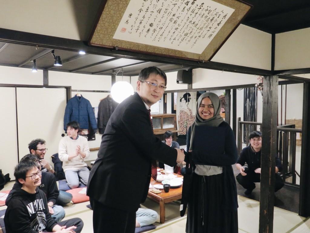 Bersama supervisor saya, Takaoka sensei