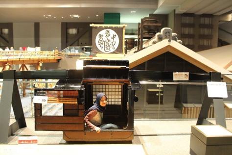 Riding royal vehicle at Edo-Tokyo Museum