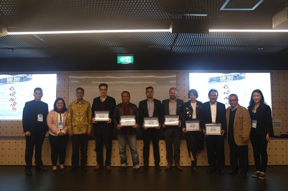 Bersama beberapa pembicara dari Australia-Indonesia Business Forum (AIBF) 2017 bertema 'Opportunity'.