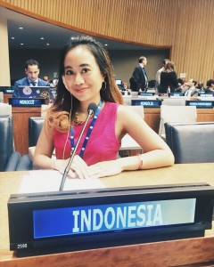 At the United Nations HQ, General Assembly Hall