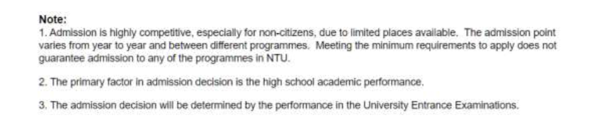 Information provided by Nanyang Technological University