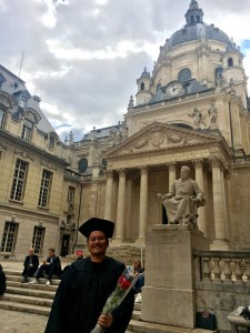 Two years, Two Master's Degrees. I survived Sorbonne. (Photo by author)