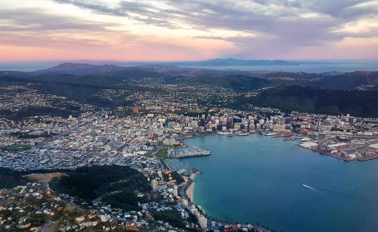 Penampakan Kota Wellington, ibu kota dari Selandia Baru