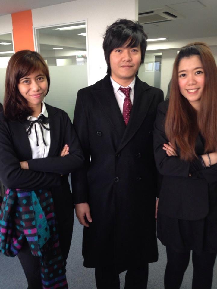 Bersama teman di japanese language for business class