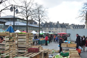 Traditional market in Rennes which dates back to early 17th century