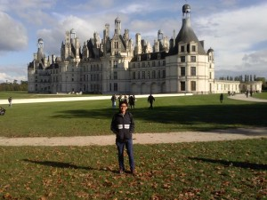 Me during student-held excursion to Chateau de Chambord in the Loire valley. (Photo by Author)