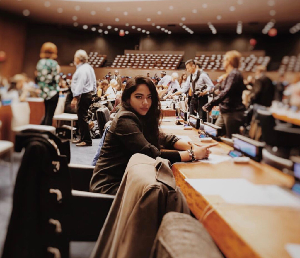 At the United Nations' Sustainable Fashion meeting. Photo by author.