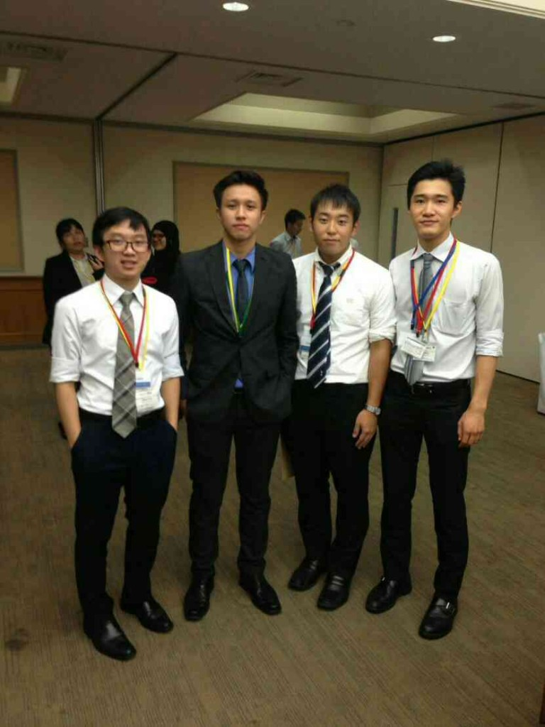 At the Asia Cup Moot Court Competition in Tokyo, Japan.
