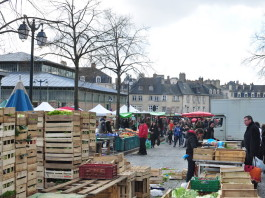 Saturday-only market in Rennes is one of the most famous in France, dating back to early 17th century. (Photo by Author)
