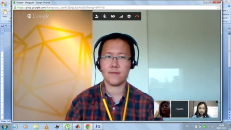 Google Hangout with IM Mentor, Martin Tjioe
