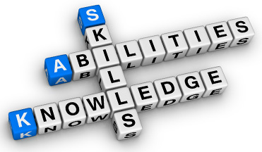Skill, abilities and knowledge are three words that describe a person's competence