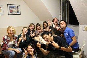 A soiree (party) attended by the author while he was studying in France. (Photo by Hanryano Yehezkiel)