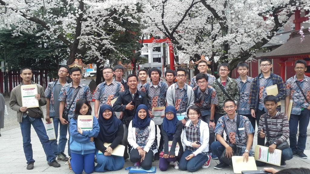Penerima beasiswa program D3 Monbukagokusho saat baru tiba di Jepang