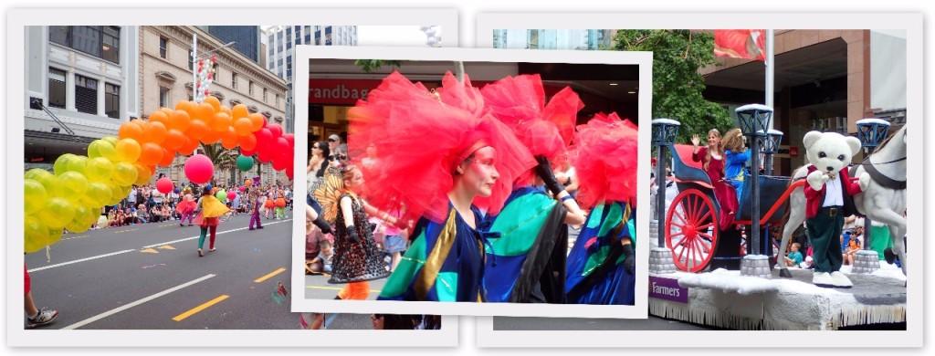 Foto-foto yang diambil oleh Muchlis ketika Santa Parade berlangsung di Auckland menjelang perayaan Natal