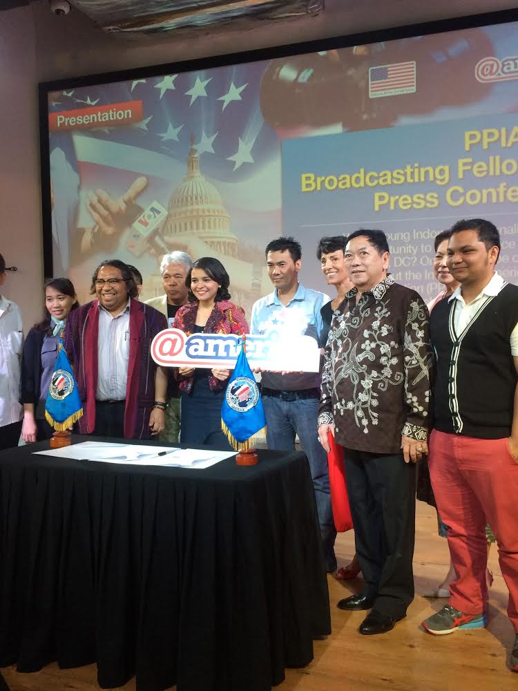 Press Conference PPIA VOA 2015. When I was introduced by the organization as a next journalist for PPIA VOA Broadcasting Fellowship Program.