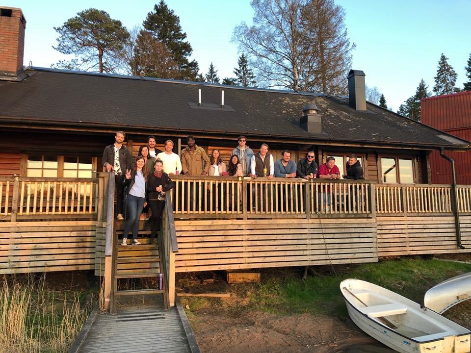 Hang-out bersama teman sekelas di Chalmers Lakehouse dan Sauna. Foto oleh Nurina Heratri.