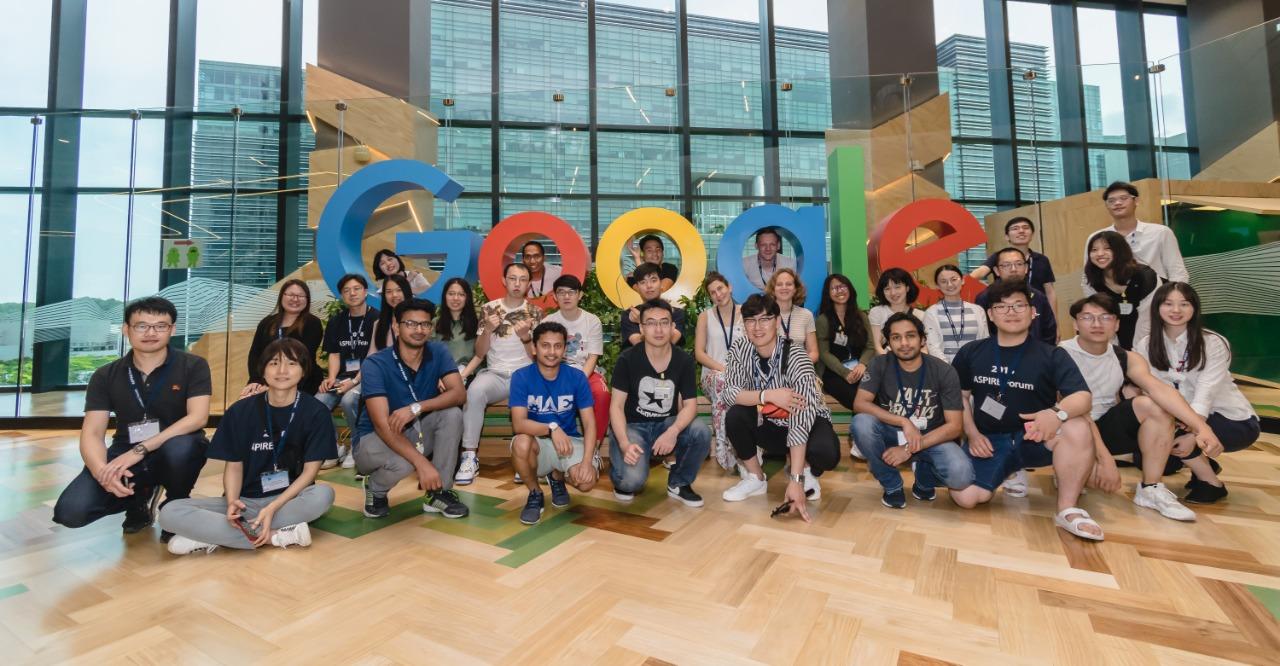 Kunjungan studi ke Google HQ saat IDEA-ASPIRE League summer school 2018 di Singapura. Foto oleh Nurina Heratri.