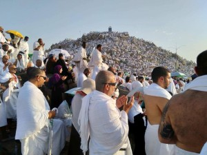 Suasana wukuf di Arafah, Jabal Rahmah, 9 Dzulhijjah 1439 H