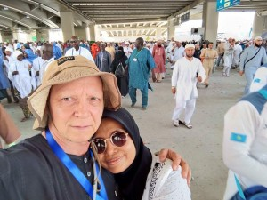 Sesaat setelah Nurul dan suami melaksanakan jamarat terakhir (sunnah haji selesai) 12 Dzulhijjah 1439 H