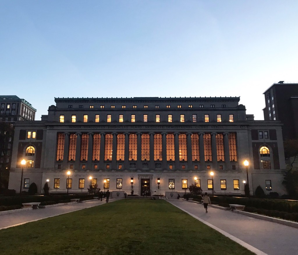 The façade of Butler Library, the main library in Columbia University. We had a discussion about it in my Global Core class, leading to a conclusion of the architecture invoking unbroken tradition, superiority, and grandeur: the three words I have in mind when I thought of applying to an Ivy League school.