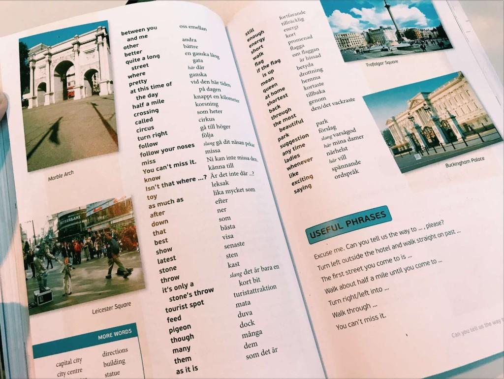 Daftar kata Bahasa Swedia dan Bahasa Inggris.