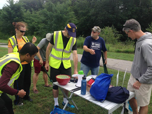 Being volunteer as a timekeeper (Source: Facebook Page College Park Parkrun)