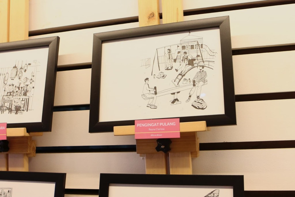 Reyna's illustration exhibition in Jakarta, Indonesia
