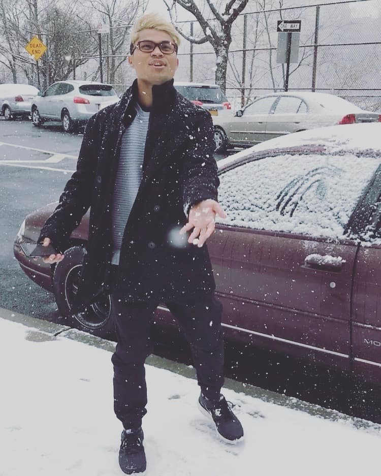 Snowing in New York!