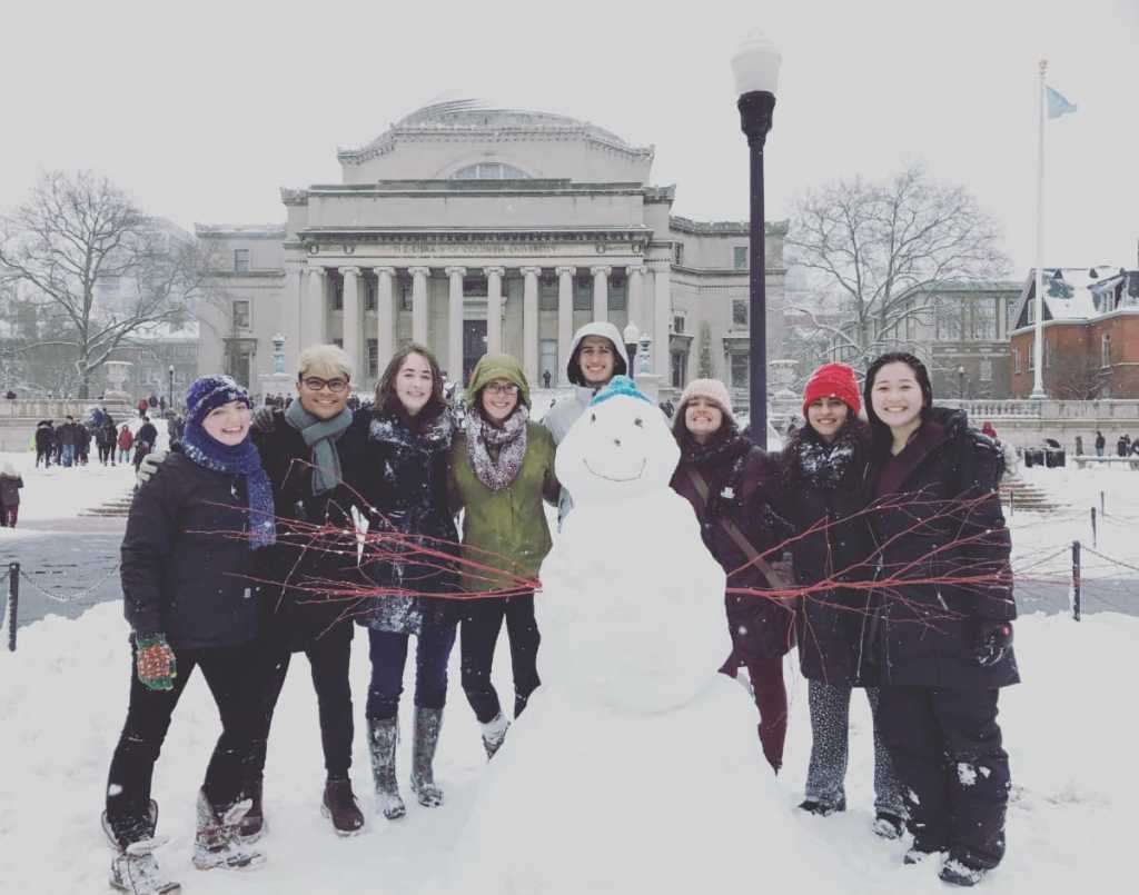 Robinson with friends at Columbia University