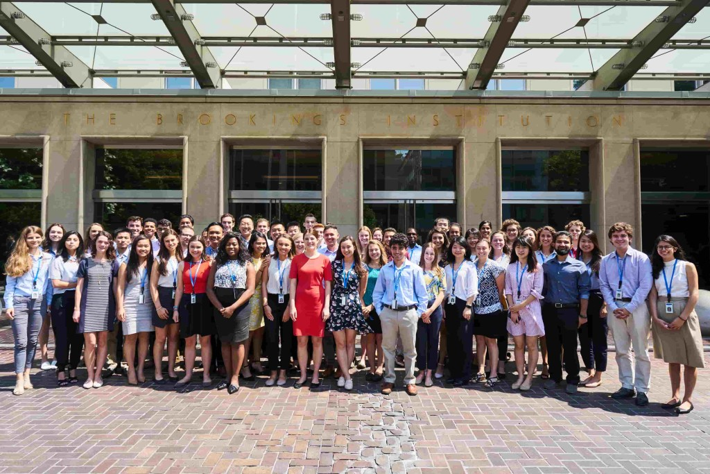 Summer 2018 Brookings Interns. (Photo by Brookings Institution)