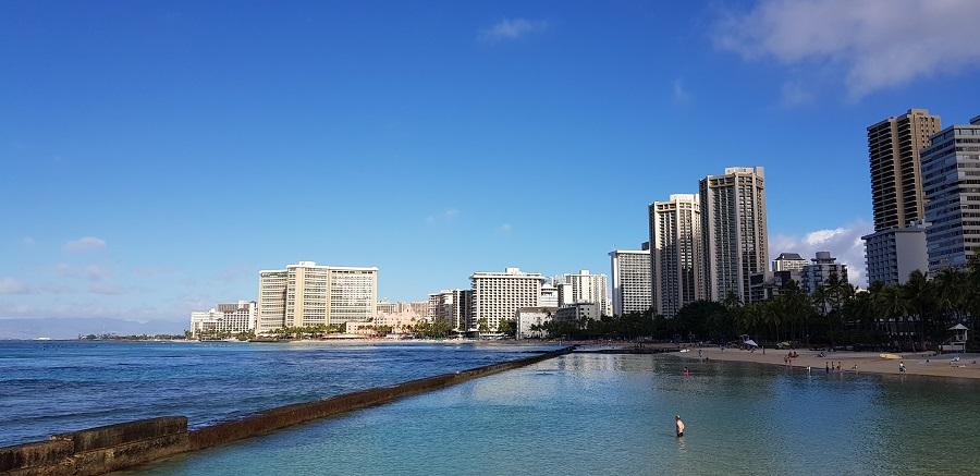 Partial view from Waikiki Beach