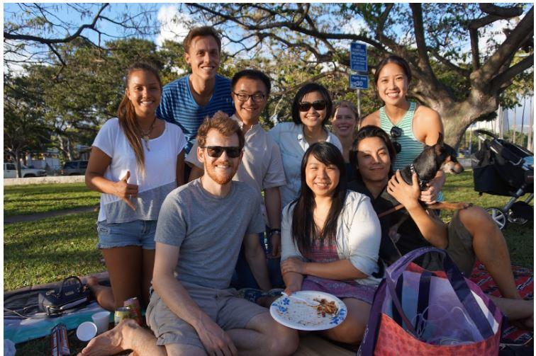 Bersama sahabat dan rekan sejawat di University of Hawai'i at Manoa