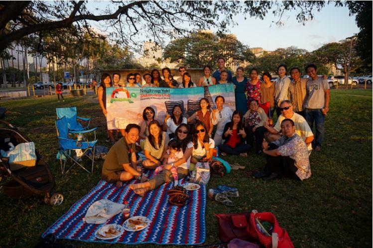 Saya bersama teman-teman dari Nongkrok Yuk! The Indonesian Club